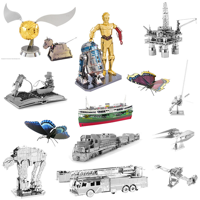3D Metal Model Puzzles DIY Puzzle Jigsaw Kit For Adults Children Educational Collection Toys Church colorful god of war returns 3d metal puzzles model for adult kids manual jigsaw educational toys desktop display collection gift
