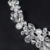 Simples de Moda Design de Jóias Branco Banhado A Ouro Simulado Pérola CZ Diamante de Cristal Austríaco Colar Brincos Conjuntos Para Mulheres D23