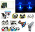 coin operated lighting set for 60 in 1 arcade multi game board with silver lighting button, power supply, speaker,  jamma wire