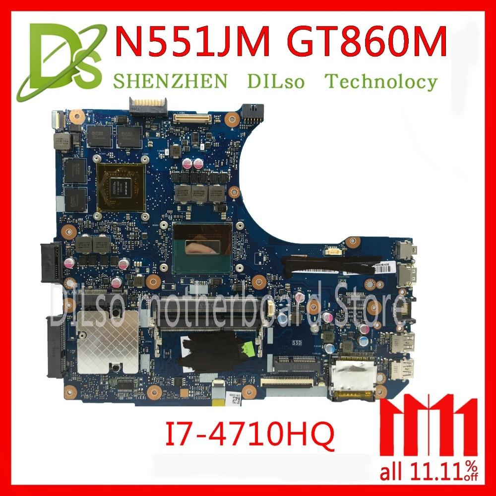 KEFU N551JM עבור ASUS N551JM Laptop i7-4710HQ G551JM לוח האם החדש GTX860m Test