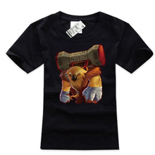 100% cotton black plus size mens tee shirts Dota 2 Earthshaker charater t shirts
