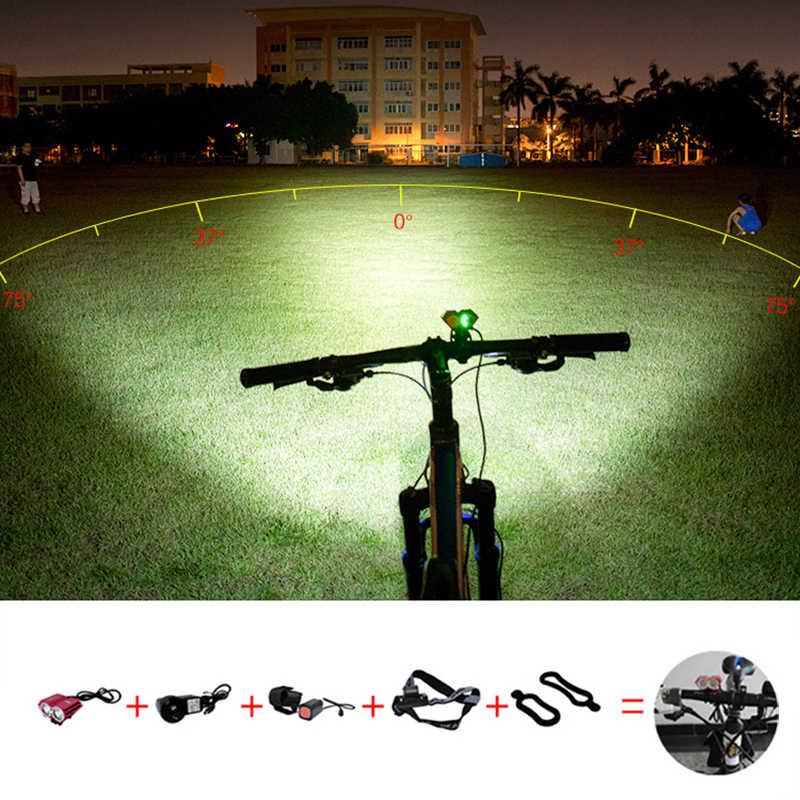 Phare de guidon de VTT de lumière de bicyclette imperméable pour la lumière avant de vélo de lumière lumineuse de vélo d'accessoires de LED de bicyclette