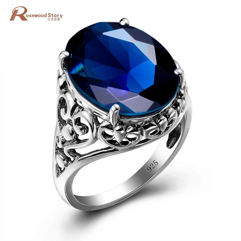 Módní velké kamenné prsteny pro ženy Vintage styl princezna - Šperky