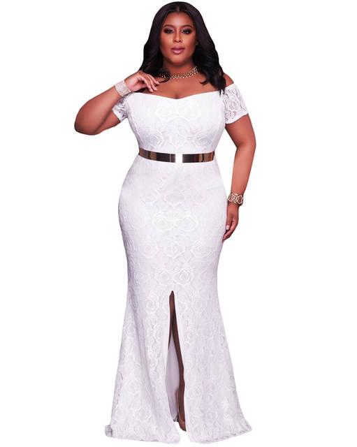 ac5ecb2b099e Fora Do Ombro Vestido Maxi Plus Size Mulheres Roupas de Festa do Laço Rosa  Vestidos Robe De Soiree Vestido de Festa Longo 2019 vestido longo em  Vestidos de ...
