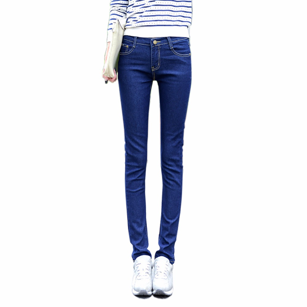 Tengo 2017 New Brand Spring Summer Jeans Women Pencil Pants Sexy High Quality Slim Female Casual