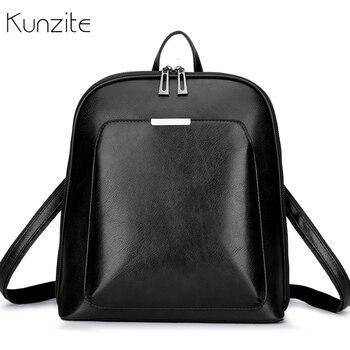 c5b9a29e3635 Винтажный женский рюкзак, школьные сумки для девочек-подростков, сумка на  плечо, женские рюкзаки из вощеной кожи, Mochilas Mujer 2018