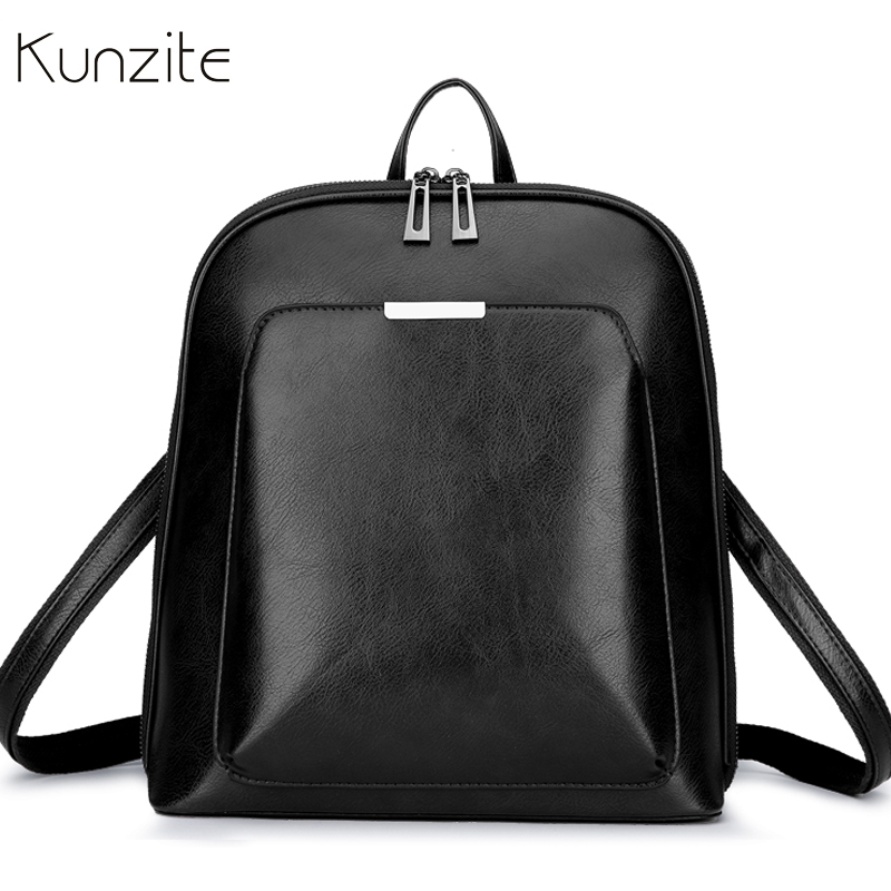 Vintage Women Backpack School Bags For Teenage Girls Shoulder Bag Female Oil Wax Leather Backpacks Mochilas Mujer Bagpack