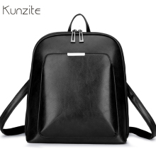 Vintage Women Backpack School Bags for Teenage Girls Shoulder Bag Female Oil Wax Leather Backpacks Mochilas Mujer 2018 Bagpack