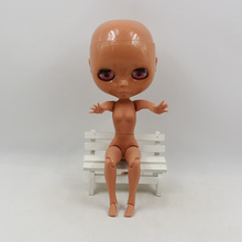 Factory Nude Blythe Doll Bald Head Tan Dark Skin 30 cm No Hair Free Gifts