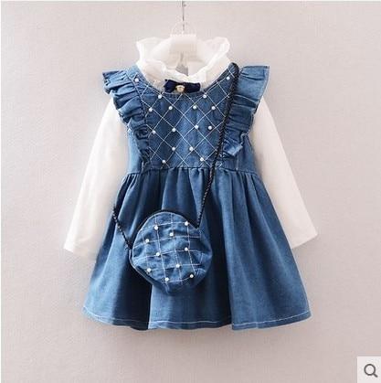Little girl dresses 2016 autumn children clothes dressed Princess children dress children dresses for girls