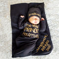 Newborn Baby Boy Prince Cotton Sleeping Bag Swaddle Wrap Blanket Sleepsacks Gold Letter Princess Infant Kids Sleep Bags