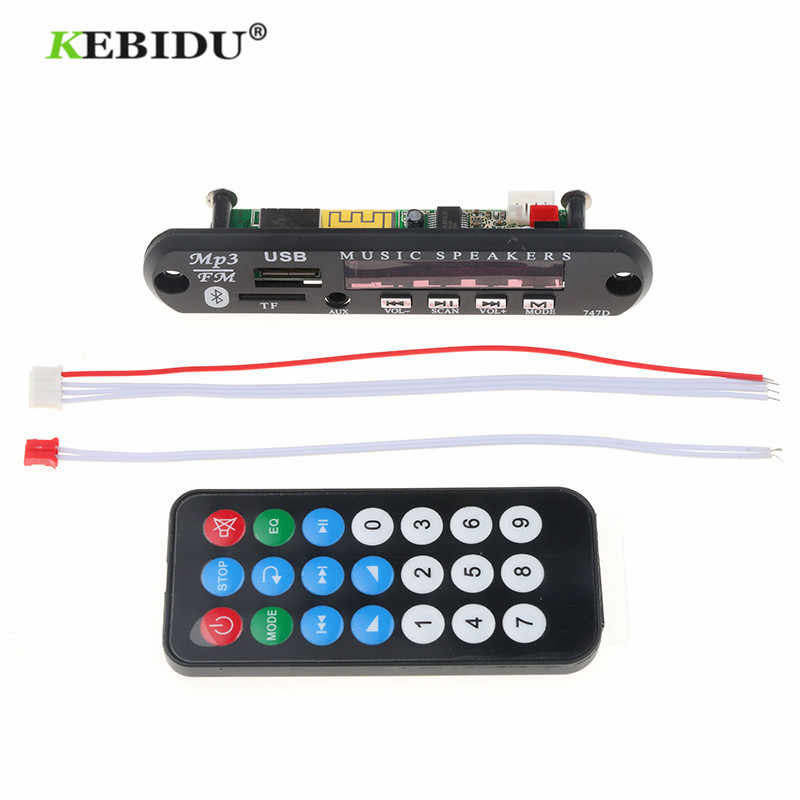 Kebidu 12V MP3 WMA Scheda di Decodifica MP3 Decoder Bluetooth Senza Fili di Bluetooth Audio Modulo USB TF Radio Per Auto A Distanza altoparlante di musica