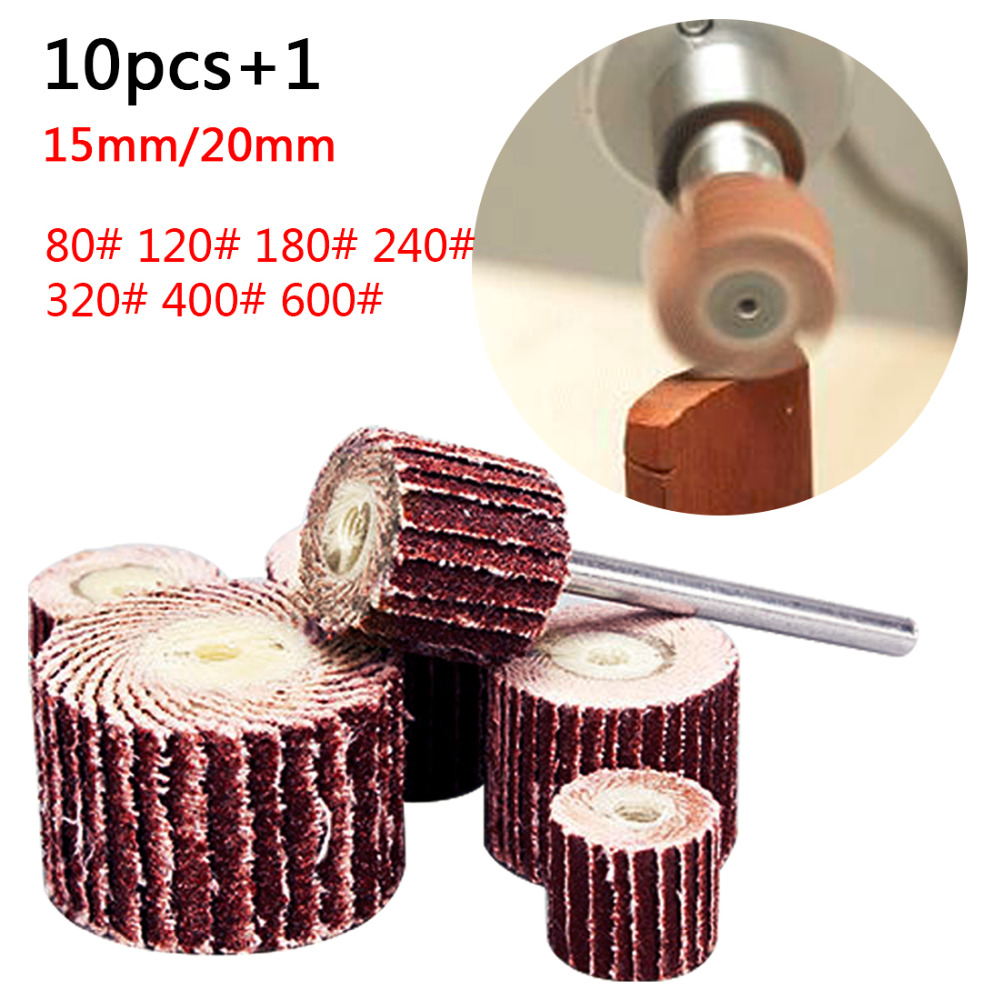 Grinding Flap Wheels Sand Rotary Tool Disc Brush Dremel Accessories Woodworking