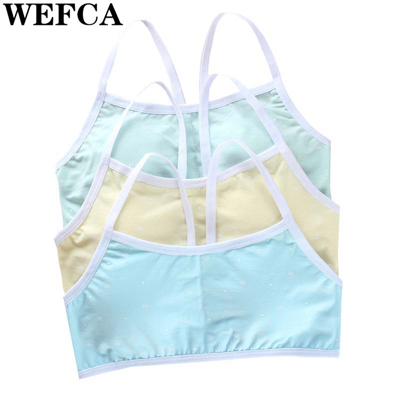 1pcs Teenage Underwear For Girl Children Bras Girls Cotton Wireless Young Bra For Kids Teens Puberty Clothing Women Bra Women's Intimates