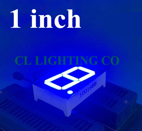 1 Zoll Blau 7 Segment Led-anzeige 34*24*10,5 Mm Nixie 1 Bit Digital Rohr Kunststoff Metall 1in Display Gemeinsame Anode/kathode
