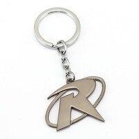 12 Pçs/lote Chegam Novas Ouro Prata Carta R Batman Robin keychain Super-heróis homem Morcego Anéis titular chaveiro chave para carros lembrança