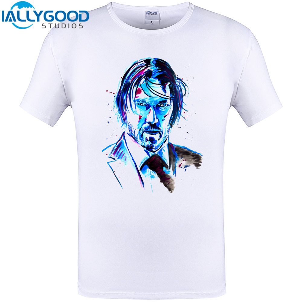 2018 New Arrival Mens T Shirt John Wick The Boogie Man Movie Badass Tee Cool  Design Tops Cotton Printing T 8c43efff9a3