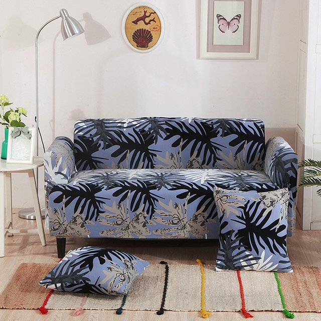 sectional couch covers leaves patterns hawaii style elastic
