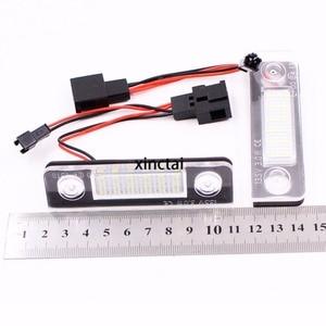 Image 3 - 2 sztuk Canbus bezawaryjna samochodowa LED numer oświetlenie tablicy rejestracyjnej dla Skoda Octavia 2 1Z 2008 ~ Roomster 5J 2006 2010