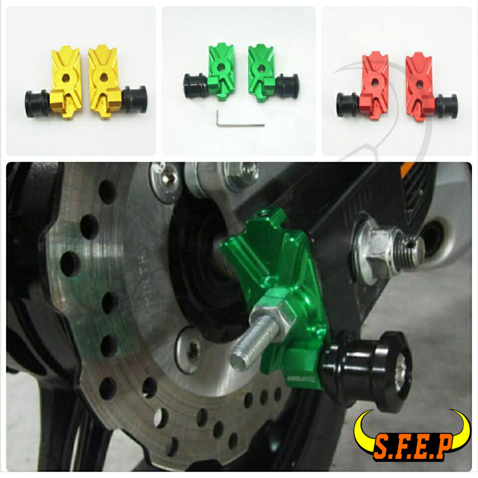 2016-2017 For Kawasaki Z125 Z125Pro Swingarm Spool Adapters Mounts
