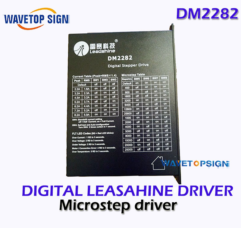Leadshine DM2282 digital stepper driver for 2 phase NEMA 34 and NEAM 42 step motor 2.2~8.2A,work 80~220VAC dm2282 leadshine digital stepper driver 2 phase cnc stepping driver 2 2 8 2a 180 240vac matching nema34 42 52 motor