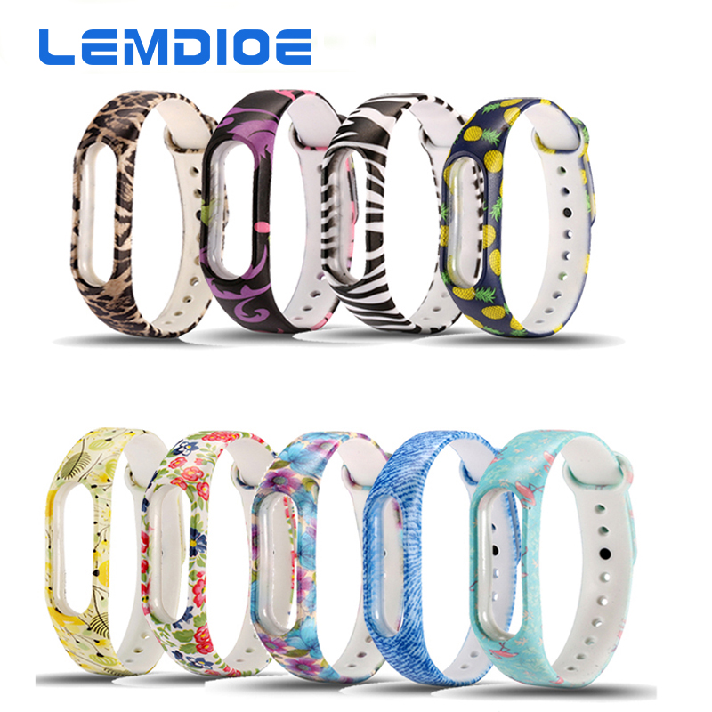 LEMDIOE In stock 1pc Multi-colors Replacement Wrist Strap Band For Original Xiaomi Mi band 2 Smart Band Wearable Accessories