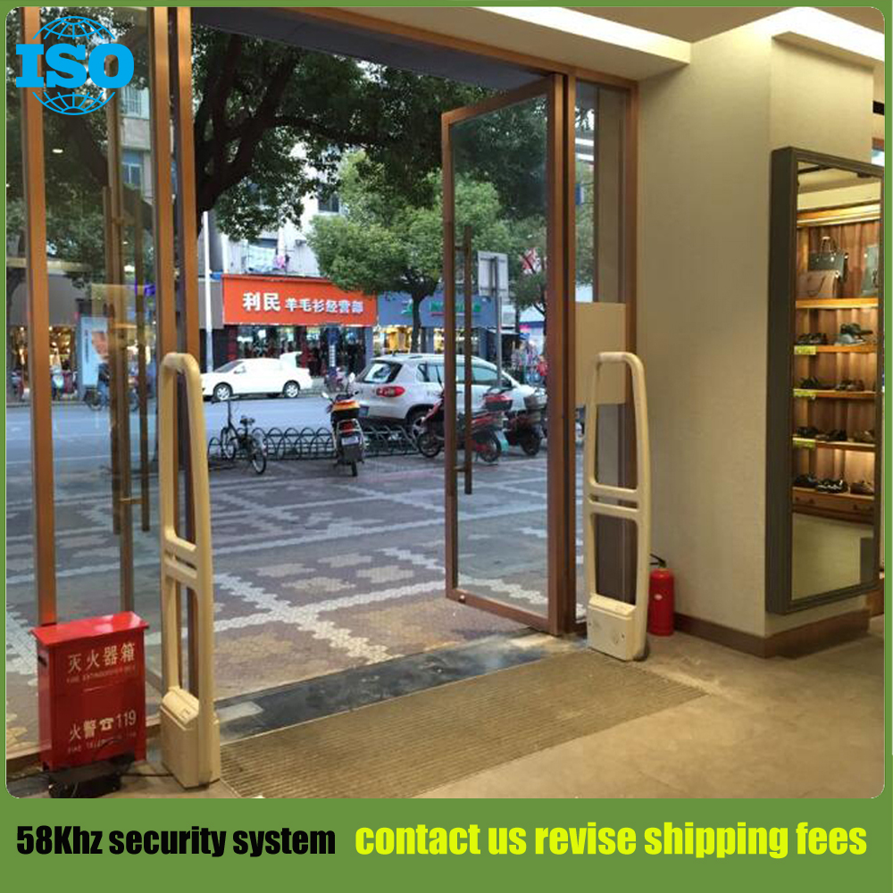 58Khz shoplifting deterrent security alarm systems supermarket security guard with sound and light alarm 1 set cascade and secondary coolant supermarket refrigeration systems