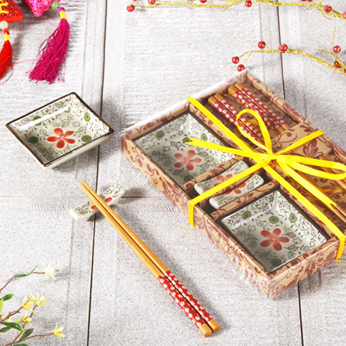 Chinese Wind Creative Japanese Tableware Ceramic Dishes Sushi Tableware  Sushi Dish With Gift Box(China