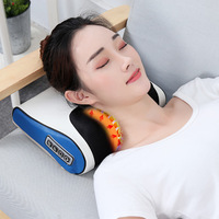 Infrared Heating Back Body Neck Shoulder Multifunctional Massage Pillow Shiatsu Massager Device Cervical Healthy Massageador