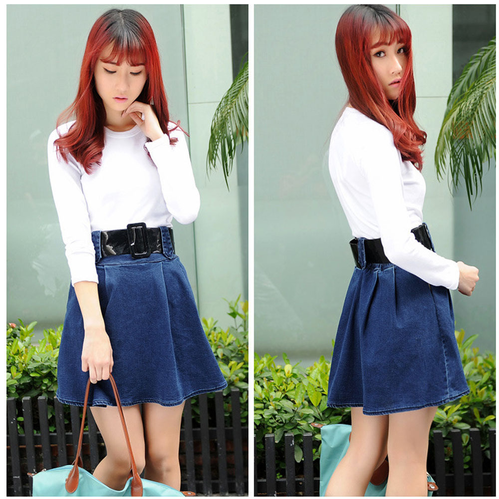skirt jean Picture - More Detailed Picture about Fashion Women ...