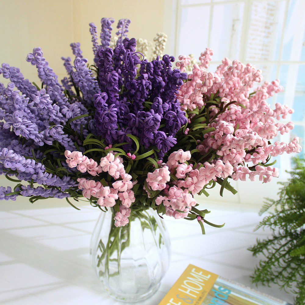 Aliexpress Com Buy Hi Q 2017 Curly Pe Petal Lavender Artificial Decorative Flowers Wedding Bouquet Home Decor From Reliable Artificial Decor Suppliers On