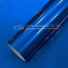 Автомобильный Стайлинг синий глянцевый металлический блестящий стикер для автомобиля обертывания глянцевые конфеты виниловая пленка