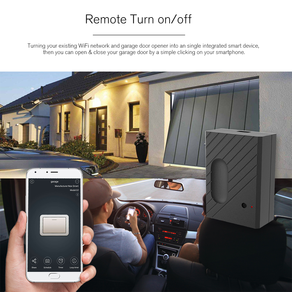 Smart Wifi Switch Garage Door Controller For Garage Door Opener App