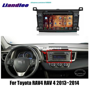 Liandlee 2din For Toyota RAV4 RAV 4 2013~2014 Car Android Radio GPS Maps Navigation Player BT WIFI HD Screen Multimedia System image