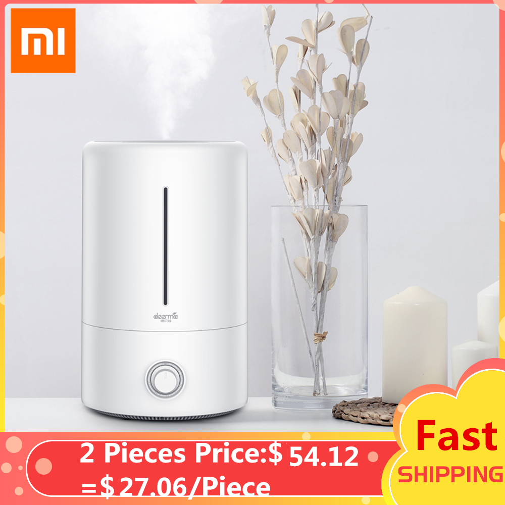 Original Xiaomi Deerma 5L Air Humidifier Mute Ultrasonic Aroma Diffuser Household Mist Maker Fogger Purifying Humidifier Oil(China)