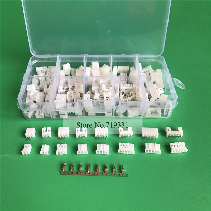 80 sets Kit in box 2p 3p 4 pin 5p 2.0mm Pitch Terminal / Housing / Pin Header Connector Wire Connectors Adaptor PH 2P Kits double row dupont kit 1p 2 2 2 3 2 4 2 5 2 6 2 7 2 8 2 9 2 10pin housing plastic shell terminal jumper wire connector set