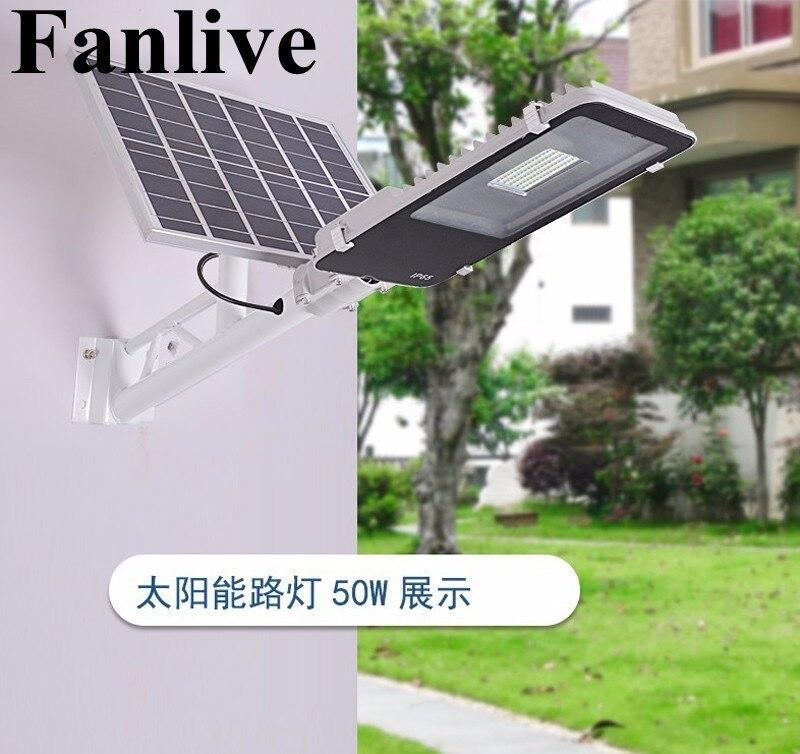 10pcs Remote Control 10W 20W 30W 50W Solar Panel Street Light Solar Sensor Lighting Outdoor Path Wall Emergency Lamp