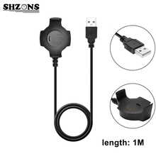 SHZONS 5V / 300mA 1M Black USB Charging Cable Cradle Charger For Xiaomi Huami Amazfit Smart Watch Smart Accessories