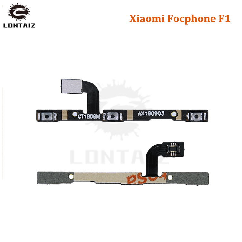 For Xiaomi xiomi Pocophone F1 Power Switch On/Off Button Volume control Key Flex Cable