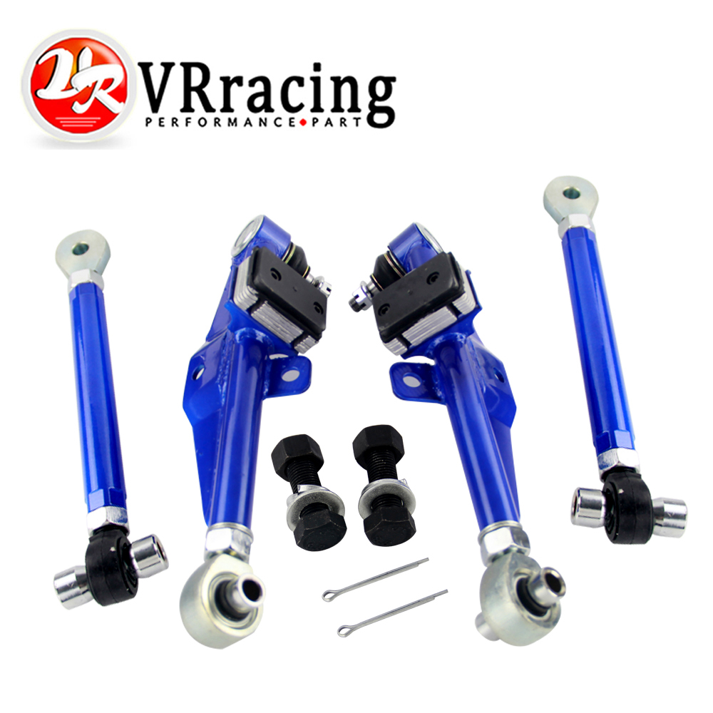 VR RACING - Racing S14 Adj Front Lower Control Arm Blue Only Pair FOR Nissan VR9832