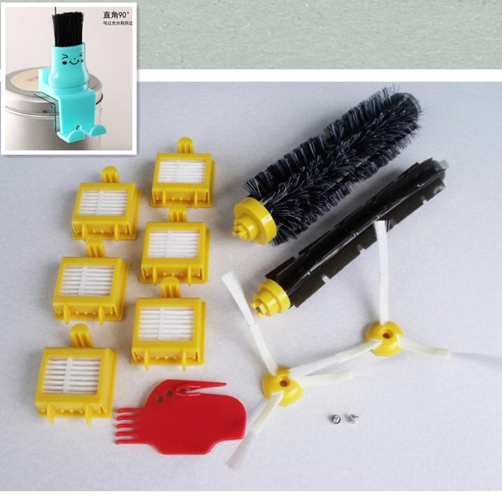Hepa Filter + Bristle Brush kit + Screws + Gift clean brush for iRobot Roomba 700 Series 760 770 780 790 Vacuum Robots accessory