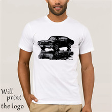 7571e113 1970 CHEVY CHEVELLE SS Silhouette American Muscle Car Soft Cotton T-Shirt (China)