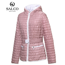 SALCO Free shipping the latest European and American fashion quilted plaid premium women's padded jacket