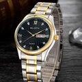 Wlisth relógio de ouro dos homens 2017 top famosa marca de luxo de quartzo relógios de pulso dos homens relógio masculino negócio de quartzo-relógio relogio masculino