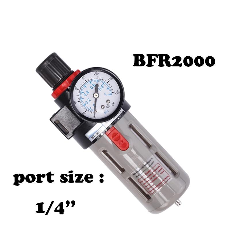 BFR2000 Air processor Free Shipping 1/4 Pneumatic Source Treatment Unit  , Air Filter Pressure Regulator 1 4 bfr 2000 air source gas treatment pressure filter regulator model bfr2000 with pressure gauge