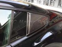 Автомобильные аксессуары из углеродного волокна окно Совок 2 шт Подходит для 2014 2016 Mustang Roush стиль панель задней боковой части кузова окно сов