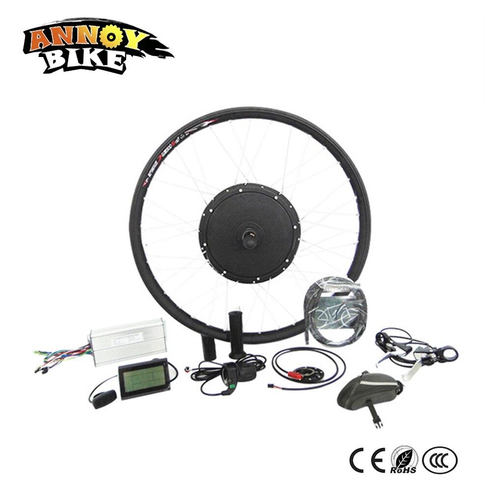 ANNOYBIKE Vélo Électrique kits de Conversion 36 V 48 V 1000 W Ebike Moteur Roue Taille 14