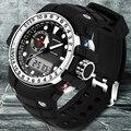 Sanda homens marca de esportes relógios à prova d' água choque g estilo militar digital relógio de quartzo eletrônico-relógios homens relogios masculino