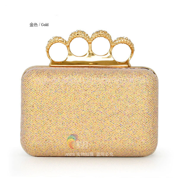 Finger Ring Clutch Purse