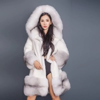 Thick and warm Russian fur coat Lexus Rex fur high end cross collocation fox fashion atmosphere real for fur coat women